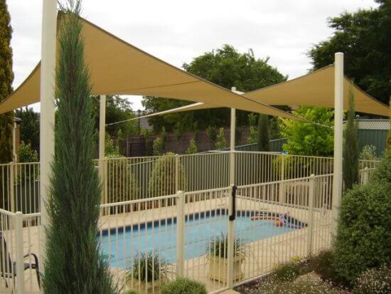 La voile d'ombrage|toile solaire vous fourni l'ombre fraîche