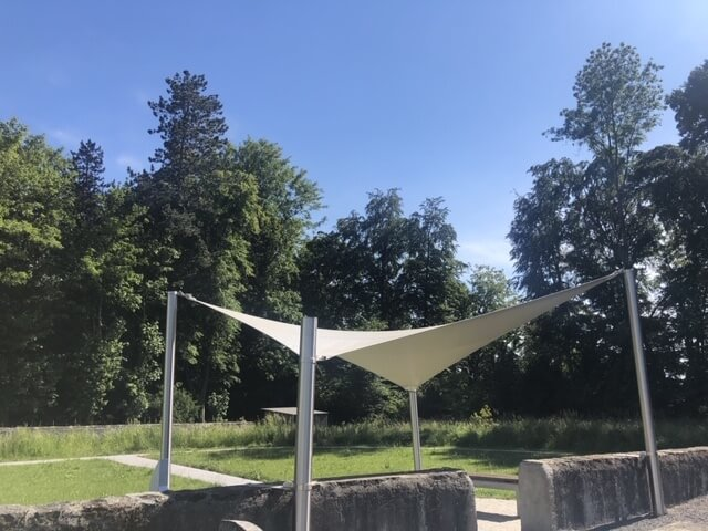 shade sail - voile d'ombrage carrée - toile solaire